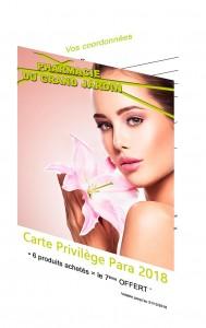 Pharmacie - Carte Privilège Para 2018