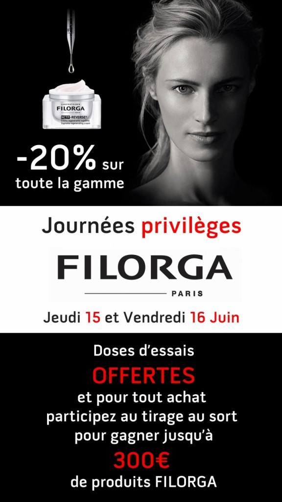 Filorga Journées privilèges