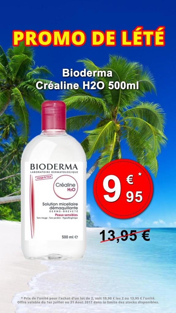 Vitrine - Bioderma Créaline H2O Juillet Août 2017