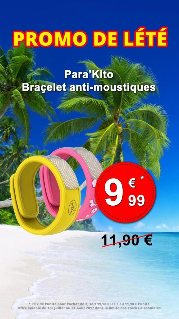 Vitrine - Parakito Braçelet anti-moustiques Juillet Août 2017